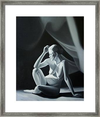 Reflection In Gray Framed Print by Stephen Degan
