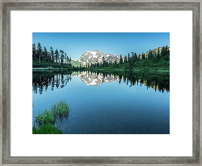 Reflection In The Lake Framed Print