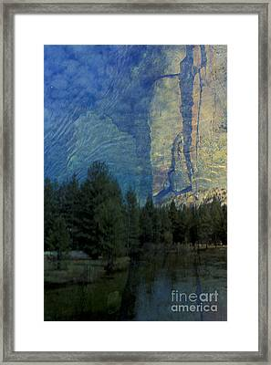 Framed Print featuring the photograph Reflection In The Merced River by Stan and Anne Foster