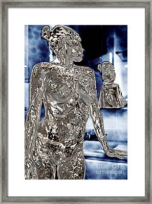 Reflection In The Mirror Tote Bag Framed Print