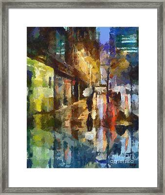 Reflection In The Rain Framed Print