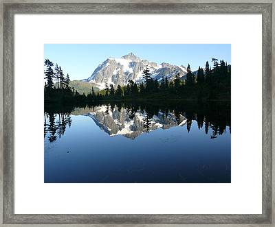 Reflection Lake Framed Print by Joel Deutsch