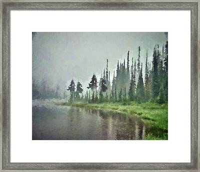 Reflection Lake, Mt Rainier Fine Art Print Framed Print