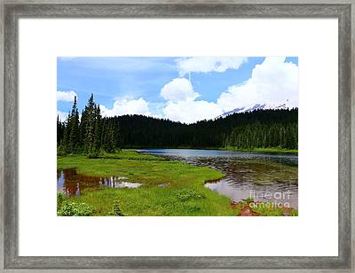 Reflection Lakes  - Mount Rainier Framed Print