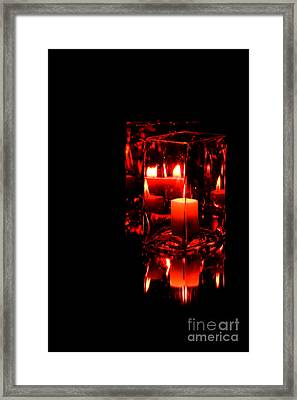 Reflection Of A Candle Framed Print by Robin Lynne Schwind