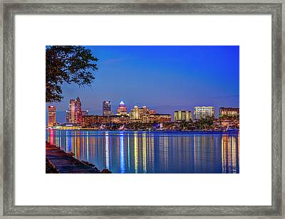 Reflection Of A City Framed Print by Marvin Spates