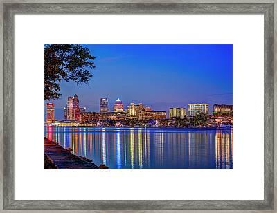 Reflection Of A City Framed Print
