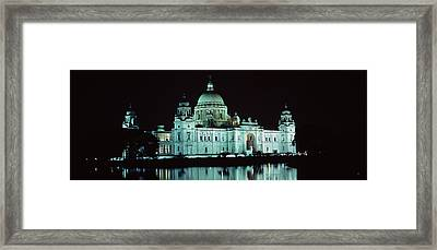Reflection Of A Palace In Water Framed Print by Panoramic Images