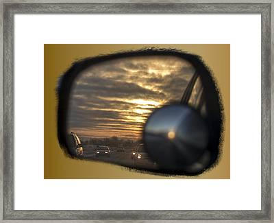 Reflection Of A Sunset Framed Print