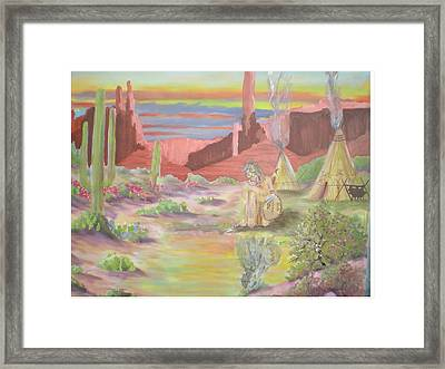 Reflection Of A Warrior Framed Print by Hal Newhouser