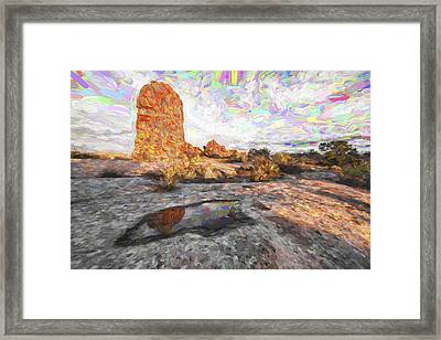 Reflection Of Arches IIi Framed Print by Jon Glaser