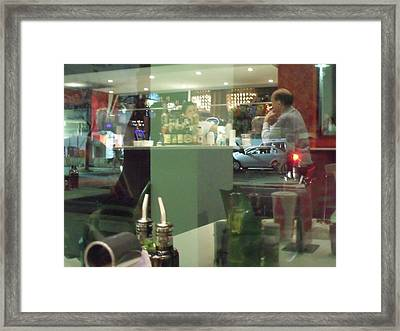 Reflection Of Man Drinking A Beer II Framed Print