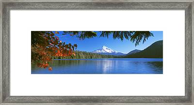 Reflection Of Mountain In A Lake, Lost Framed Print by Panoramic Images