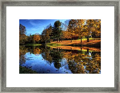 Reflection Of Northeast Ohio Fall Framed Print