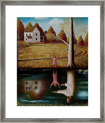 Framed Print featuring the painting Reflection Of Protection. by Gene Gregory