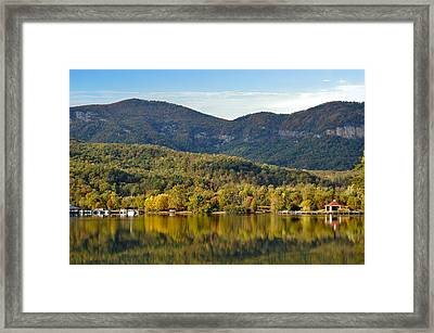 Reflection Of The Gorge Framed Print by Donnie Smith