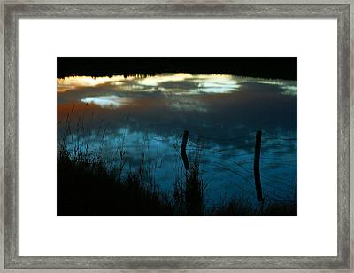 Reflection Of The Sky In A Pond Framed Print