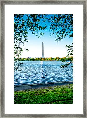 Reflection Of Washington Framed Print by Greg Fortier