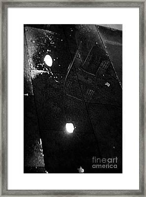 Reflection Of Wet Street Framed Print