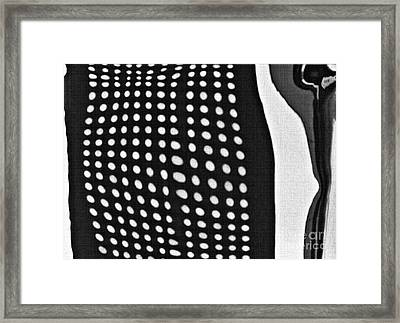 Framed Print featuring the photograph Reflection On 42nd Street 1 Grayscale by Sarah Loft