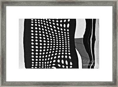 Framed Print featuring the photograph Reflection On 42nd Street 2 Grayscale by Sarah Loft