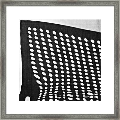 Framed Print featuring the photograph Reflection On 42nd Street 3 Grayscale by Sarah Loft