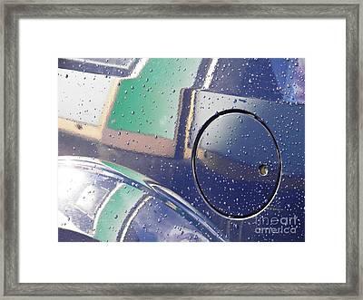 Reflection On A Parked Car 13   Framed Print