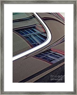 Reflection On A Parked Car 14 Framed Print
