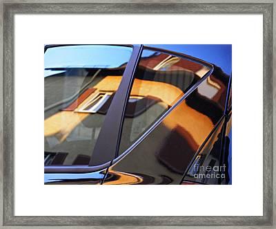 Reflection On A Parked Car 16 Framed Print