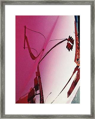 Reflection On A Red Automobile Framed Print by Sarah Loft