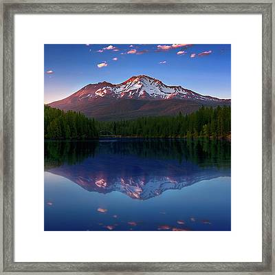 Reflection On California's Lake Siskiyou Framed Print