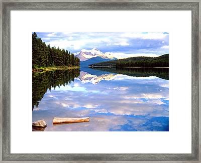Reflection On Malign Lake Framed Print