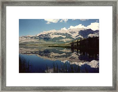 Reflection On Talbot Lake Framed Print by Shirley Sirois