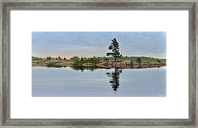 Reflection On The Bay Framed Print