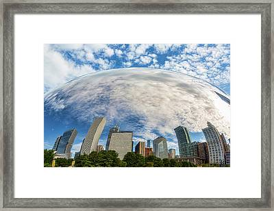Reflection On The Bean Framed Print