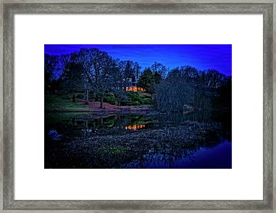 Reflection On The Concord River Framed Print