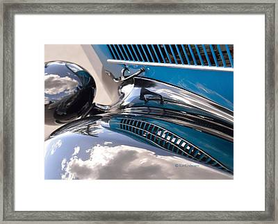 Reflection On The Coupe Framed Print