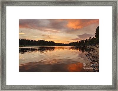 Reflections On The Willamette River Framed Print