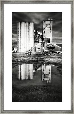Reflection Puddle Framed Print by Dustin Soph