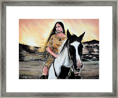Reflections  A Maiden And Spot Framed Print by Andrew Read