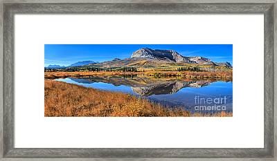 Reflections Along The Chief Joseph Scenic Highway Framed Print by Adam Jewell