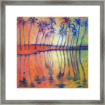 Framed Print featuring the painting Reflections by Angela Treat Lyon