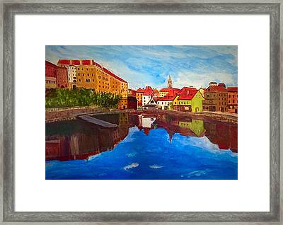 Czech Reflections Framed Print
