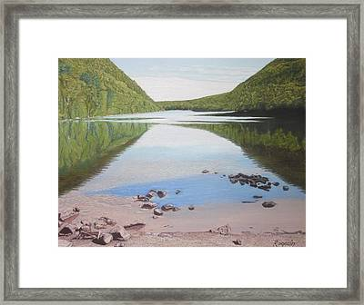 Reflections At Bubble Pond Framed Print