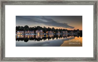 Reflections At Dawn - Boathouse Row Framed Print by Mark Ayzenberg
