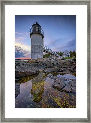 Reflections At Marshall Point Framed Print