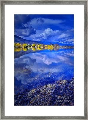 Reflections At Osoyoos Lake Framed Print by Tara Turner