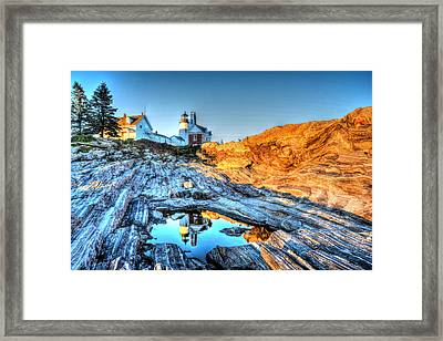 Reflections At Pemaquid Point Framed Print