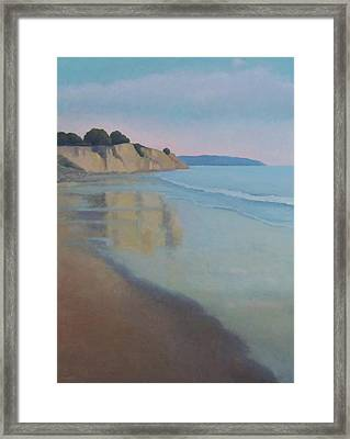 Reflections At Summerland Beach Series 3 Framed Print by Jennifer Boswell