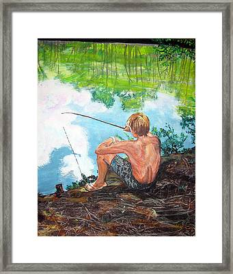 Reflections By Still Waters Framed Print by Sarah Hornsby